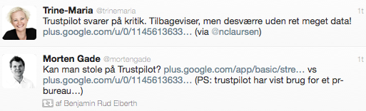 Omtale af Trustpilot På Twitter