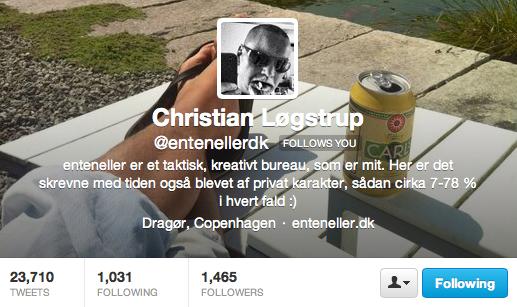Christian Løgstrup / enteneller på Twitter